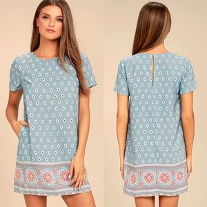 Lulu's | Secret Paradise Printed Shift Dress